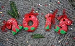 Galleta 2015 de la Navidad Foto de archivo