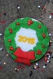 Galleta 2015 de la Navidad Imagen de archivo libre de regalías