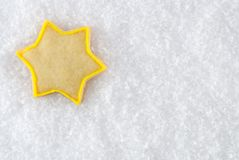 Galleta de la Navidad de la estrella imagen de archivo