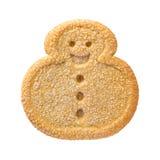 Galleta de la Navidad del muñeco de nieve imagen de archivo libre de regalías