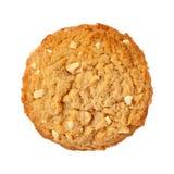 Galleta de mantequilla de cacahuete aislada Fotografía de archivo libre de regalías