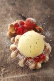 Galleta de oro quebradiza con helado Foto de archivo libre de regalías