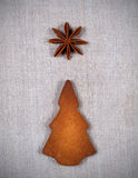 Galleta del árbol de navidad Fotografía de archivo