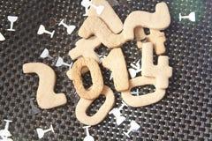 Galleta 2014 del Año Nuevo Fotografía de archivo libre de regalías