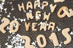 Galleta 2015 del Año Nuevo Fotografía de archivo