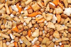 Galleta del arroz por tiempo del bocado Imagen de archivo libre de regalías
