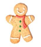 Galleta del hombre de pan de jengibre de la Navidad fotos de archivo libres de regalías