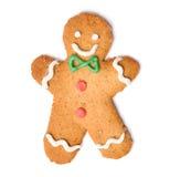 Galleta del hombre de pan de jengibre de la Navidad Fotos de archivo