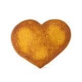 Galleta del jengibre de la forma del corazón Imagen de archivo libre de regalías