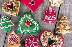 Galleta del pan de jengibre de la Navidad Imagenes de archivo