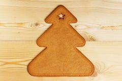 Galleta del pan de jengibre de la Navidad Foto de archivo libre de regalías
