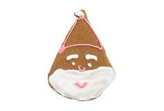 Galleta del pan de jengibre de Papá Noel Fotografía de archivo libre de regalías