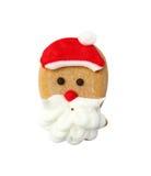 Galleta del pan de jengibre de Santa aislada Imagen de archivo