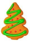 Galleta del pan de jengibre del árbol de navidad imagenes de archivo
