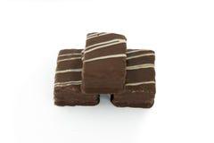 Galleta en chocolate Foto de archivo libre de regalías