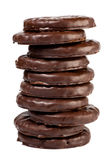 Galleta en chocolate Fotografía de archivo libre de regalías
