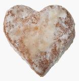 Galleta en forma de corazón del jengibre Fotos de archivo