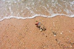Galleta funcionada con en la playa Fotos de archivo libres de regalías