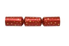 Galleta roja de Navidad Imagenes de archivo