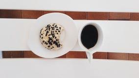 ¿Galleta y café? Fotografía de archivo libre de regalías