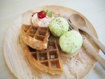 Galleta y helado Foto de archivo