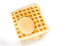 Galleta y huevo Fotos de archivo libres de regalías