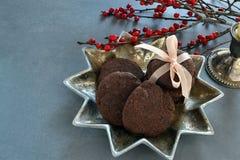 Galletas alemanas de la Navidad Fotos de archivo