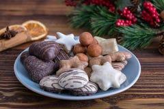 Galletas alemanas de la Navidad para la estación festiva Imagen de archivo libre de regalías