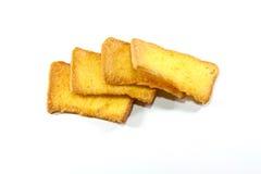 Galletas amarillas y dulces Fotografía de archivo libre de regalías