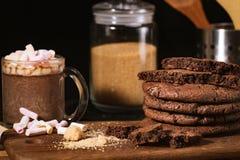 Galletas americanas del chocolate foto de archivo