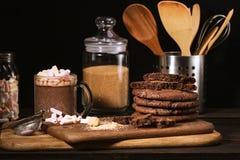 Galletas americanas del chocolate imagen de archivo