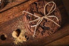 Galletas americanas del chocolate fotografía de archivo