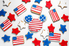 Galletas americanas del Día de la Independencia Foto de archivo