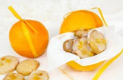 Galletas anaranjadas foto de archivo libre de regalías
