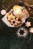 Galletas asteroides para la Navidad o Jánuca Imagen de archivo