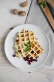 Galletas belgas cocinadas en casa Fotografía de archivo libre de regalías