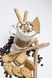 Galletas, café y obleas. Foto de archivo libre de regalías