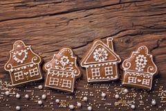 Galletas caseras del pan de jengibre foto de archivo libre de regalías