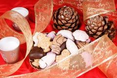 Galletas clasificadas del pan de jengibre de la Navidad Fotos de archivo