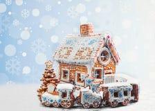 Galletas clasificadas del pan de jengibre de la Navidad Fotografía de archivo libre de regalías