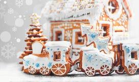 Galletas clasificadas del pan de jengibre de la Navidad Fotografía de archivo