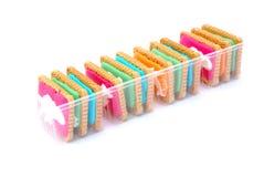 Galletas coloridas Fotografía de archivo