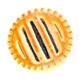 Galletas con Cherry Jam Foto de archivo libre de regalías