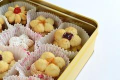 Galletas con el atasco de la fruta Imagen de archivo libre de regalías