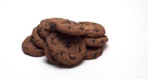 Galletas con el chocolate imagen de archivo