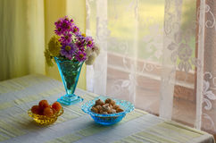 Galletas con los albaricoques secados Fotografía de archivo libre de regalías
