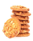 Galletas con los cacahuetes Fotos de archivo libres de regalías