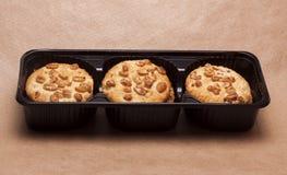 Galletas con los cacahuetes Imágenes de archivo libres de regalías