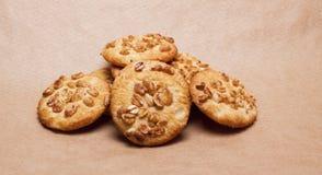 Galletas con los cacahuetes imagen de archivo libre de regalías
