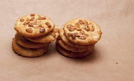 Galletas con los cacahuetes Fotografía de archivo